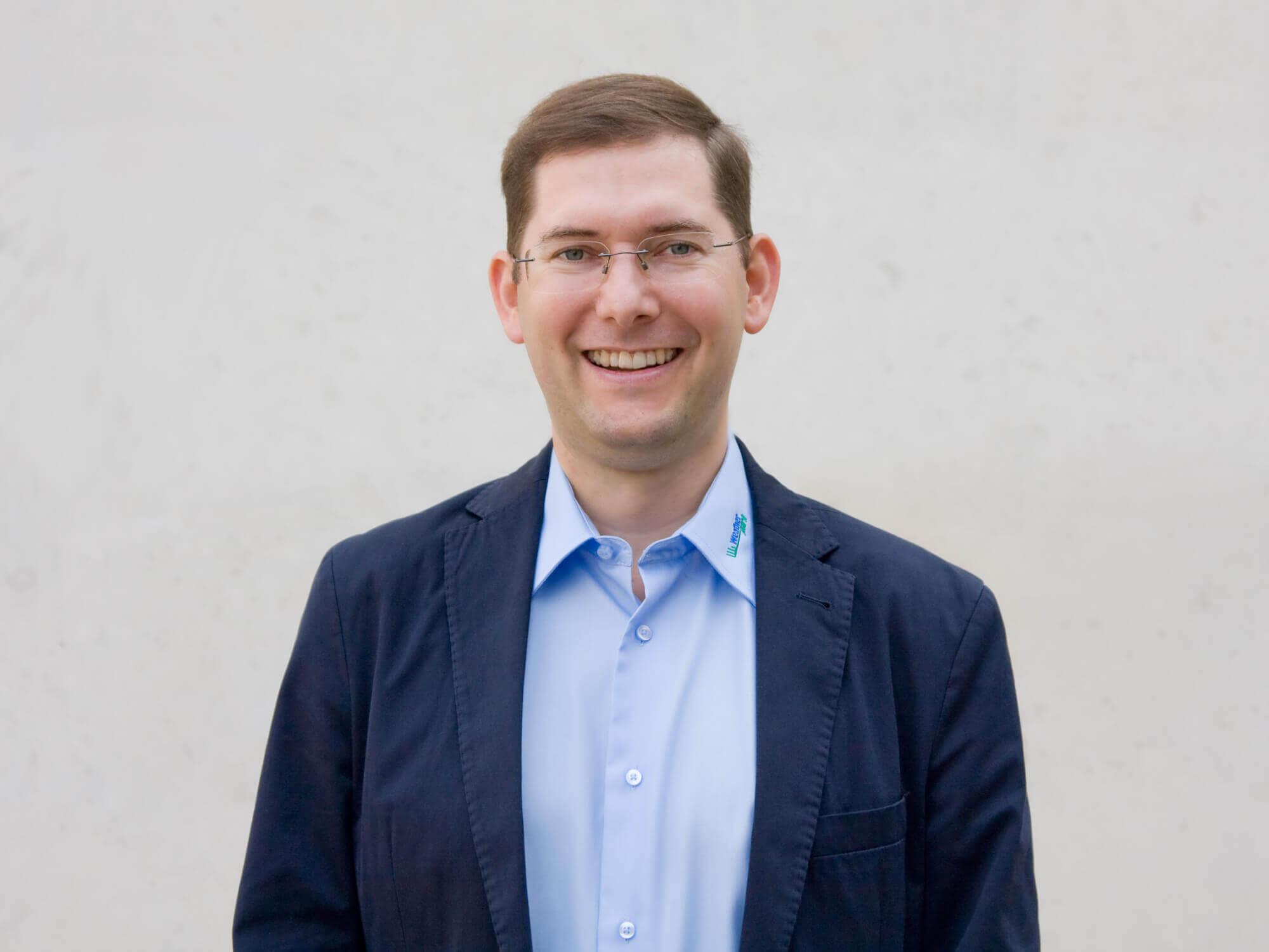 """Klimaexperte Simon Tschannett berät mit seinem Unternehmen """"Weatherpark"""" Städte, Planer und Architekten beim Umgang mit der Klimaerwärmung."""