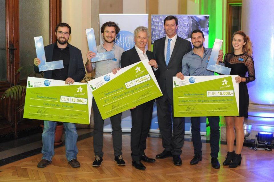 Sieger des Wettbewerbs greenstart 2017
